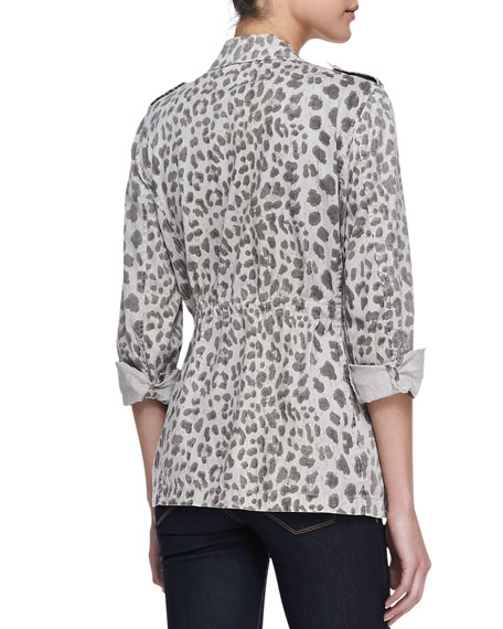 Leopard-Print Army Jacket