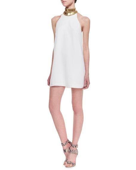 Modern Myth Sequin-Neck Mini Dress