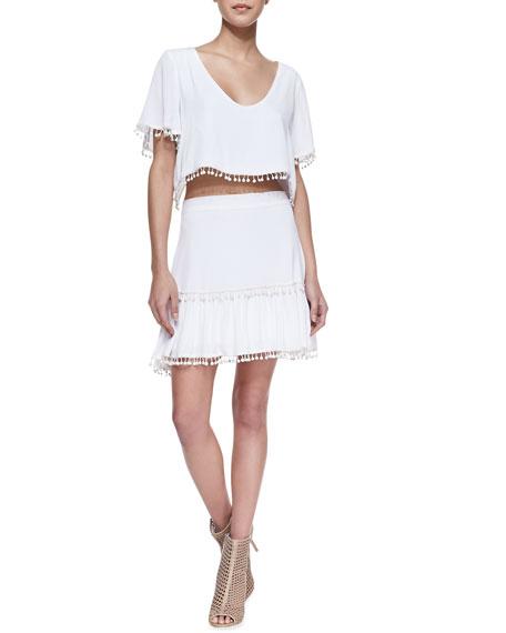 Chica Fringe-Trim Skirt