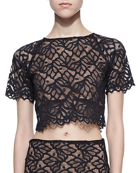 Lace Keyhole Crop Top