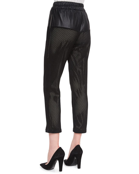 Gabby Perforated Leather Pants