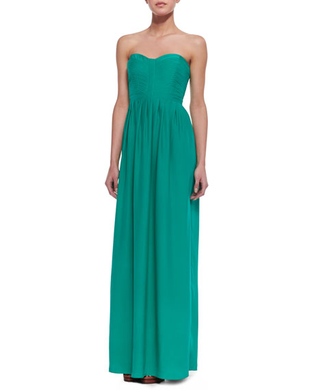 Bayou Silk-Crepe Maxi Dress