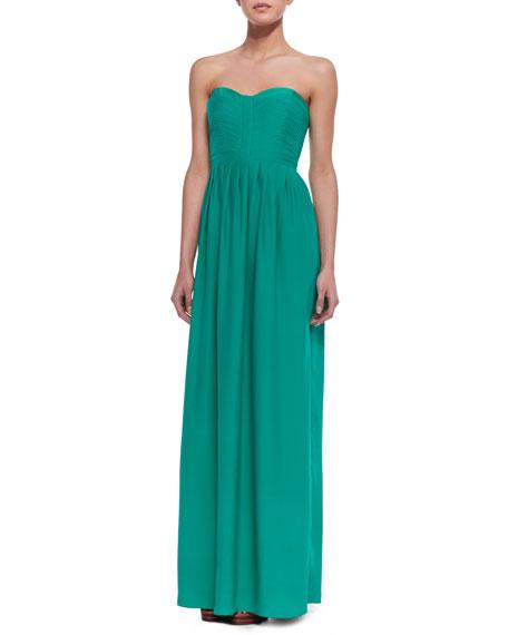 Bayou Silk-Crepe Maxi Dress