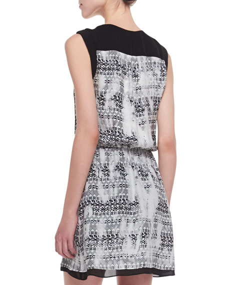 Lizzy Faux-Wrap Silk Dress