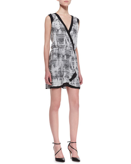 Lizzy Faux-Wrap Silk Dress