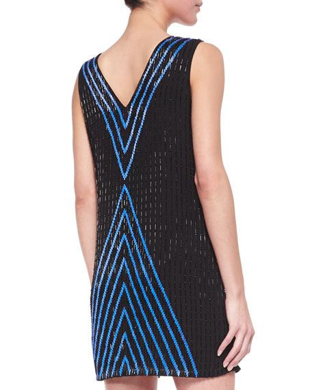 Alexa Beaded Silk Shift Dress