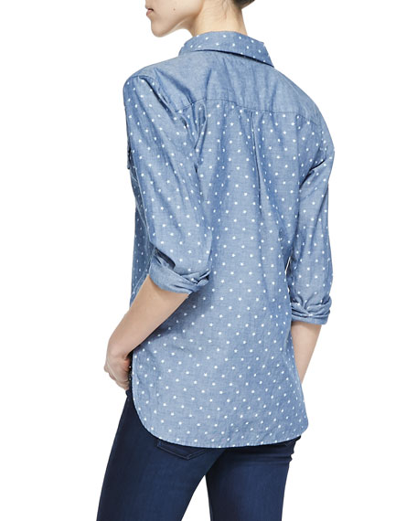 Samuel Star-Print Chambray Shirt