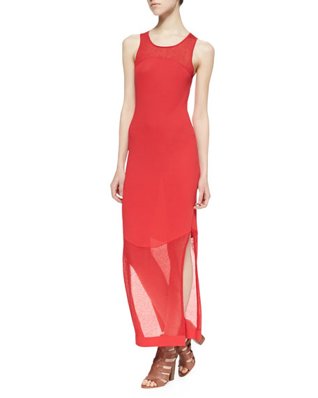 Half Moon Combo Maxi Dress, Poppy