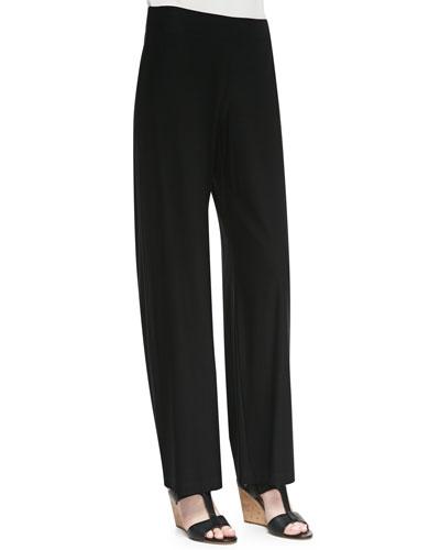 Eileen Fisher Modern Wide-Leg Pants, Black, Petite