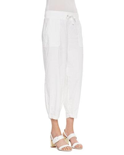 Eileen Fisher Drawstring-Waist Slouchy Capri Pants, Petite