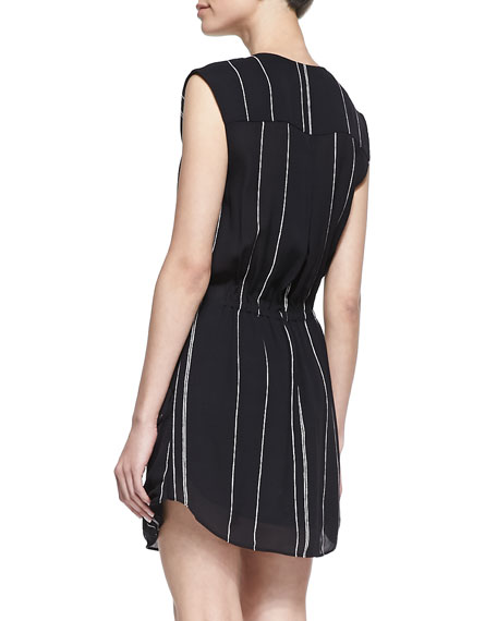 Kearny Striped Drawstring Dress