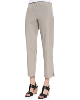 Eileen Fisher Organic Stretch Twill Slim Ankle Pants, Petite