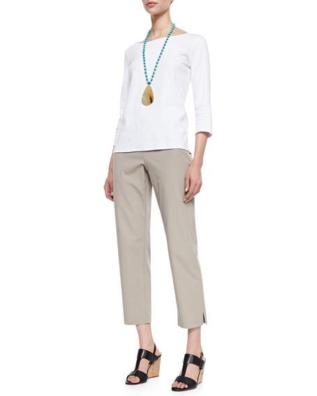Organic Stretch Twill Slim Ankle Pants, Women's