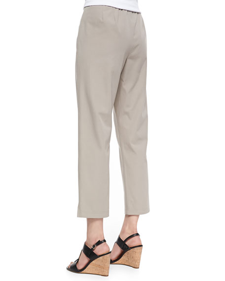 Organic Stretch Twill Slim Ankle Pants, Women's