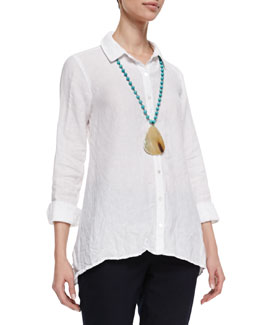 Eileen Fisher Handkerchief Linen Boxy Shirt, Women's