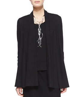 Eileen Fisher Lightweight Flutter Cardigan, Black