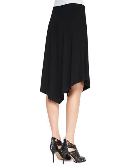 Jersey Handkerchief-Hem Skirt, Petite