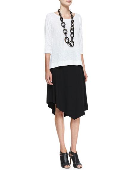 Jersey Handkerchief-Hem Skirt, Women's