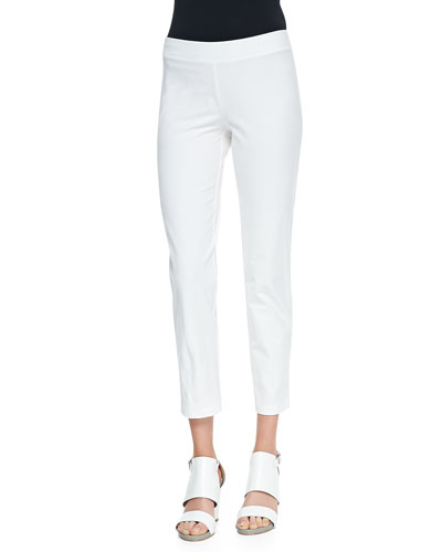 Eileen Fisher Washable Stretch-Crepe Ankle Pants, Women's