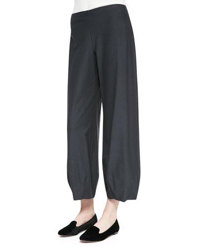 Eileen Fisher Lantern Wide-Leg Ankle Pants, Women's