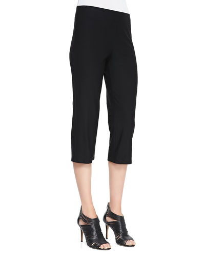 Eileen Fisher Slim Crepe Capri Pants