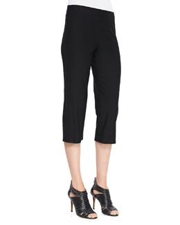 Eileen Fisher Slim Crepe Capri Pants, Petite