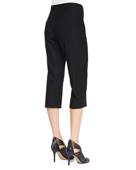 Slim Crepe Capri Pants, Women's
