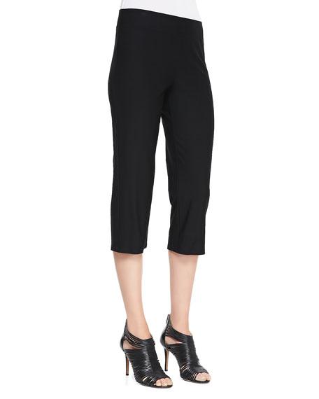 Slim Crepe Capri Pants, Women's