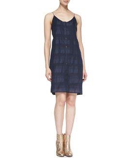 Rag & Bone Sleeveless Textured Tablier Dress