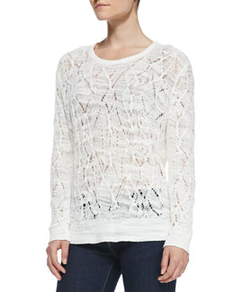 Rag & Bone Kaitlyn Crewneck Crochet Sweater