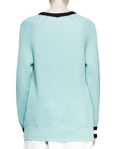 Talia Chunky Knit V-Neck Sweater