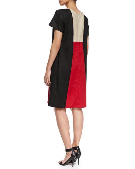 Erice Colorblock Short-Sleeve Dress, Women's