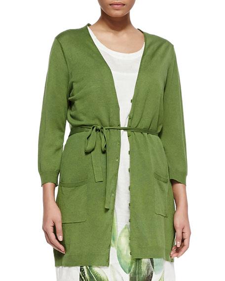 Matilde Silk-Blend Tie-Waist Jacket, Women's