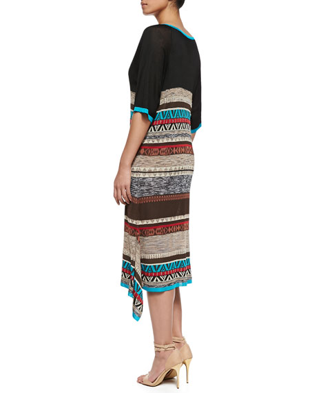 Graphic-Print Giraffa Long Dress, Women's