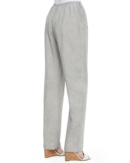 Tumbled Straight-Leg Pants, Mist