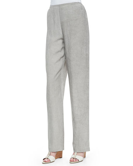 Tumbled Straight-Leg Pants, Mist