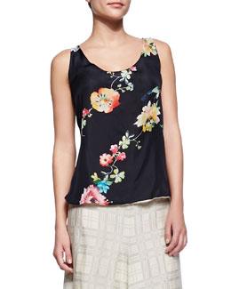 Johnny Was Collection Floral-Print Reversible Tank