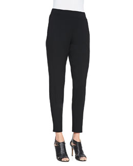 Eileen Fisher Slouchy Tapered Featherweight Jersey Pants