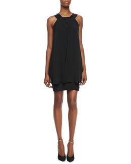 Theory Lylin Double Georgette Sleeveless Dress