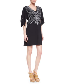 JWLA for Johnny Was Tamar Embroidered Kimono Dress, Women's