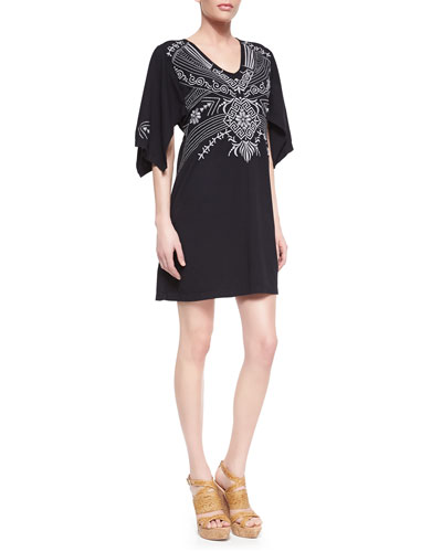 JWLA for Johnny Was Tamar Embroidered Kimono Dress