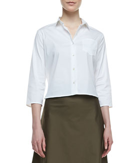 Theory Lerlynn Button-Up Blouse