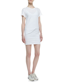 Theory Toasta Short-Sleeve Tee Dress