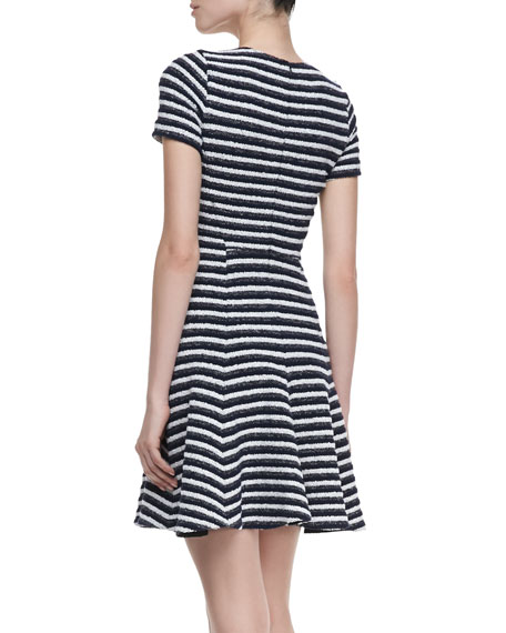 bff890fdaba Theory Albita Guarda Short Sleeve Dress, Uniform Black & White