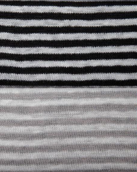 Striped Jersey Cap-Sleeve Top