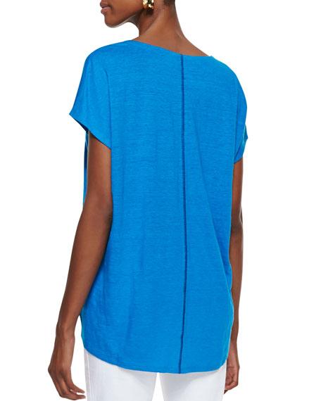 Organic Linen Short-Sleeve Box Top