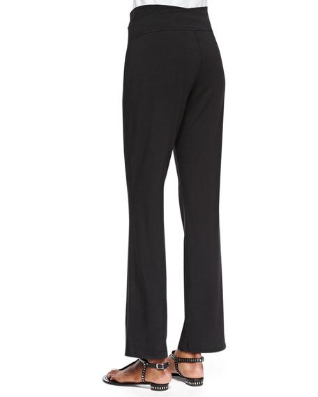Organic Cotton Yoga Pants, Black