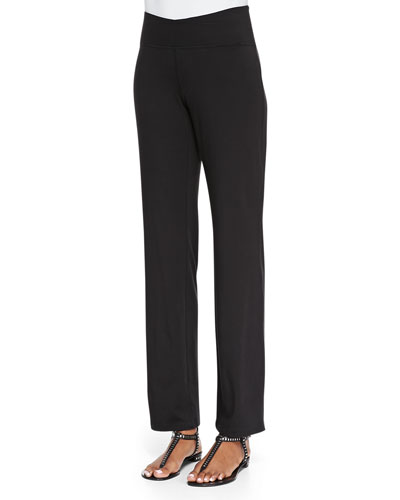 Eileen Fisher Organic Cotton Yoga Pants, Black
