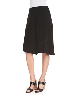 Eileen Fisher Faux-Wrap Jersey Skirt