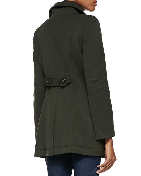 Combat Twill Button-Down Coat